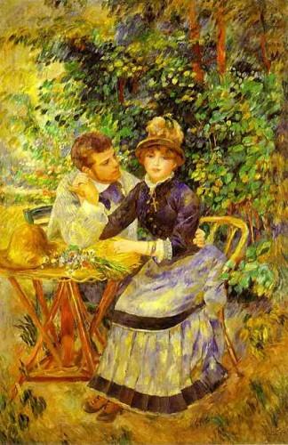 Мужчина и женщина - картина в стиле Ренуара