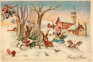 Девочка с зайчатами зимой