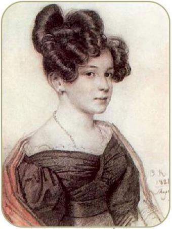 Портрет Олениной Анны Алексеевны 1828 г.