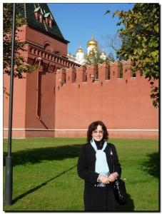 Я на фоне кремлевской стены
