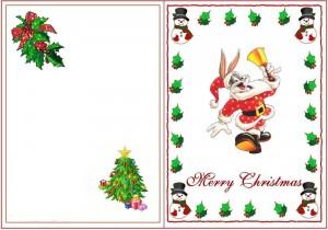 Заяц в одежде Санта Клауса с колокольчиком
