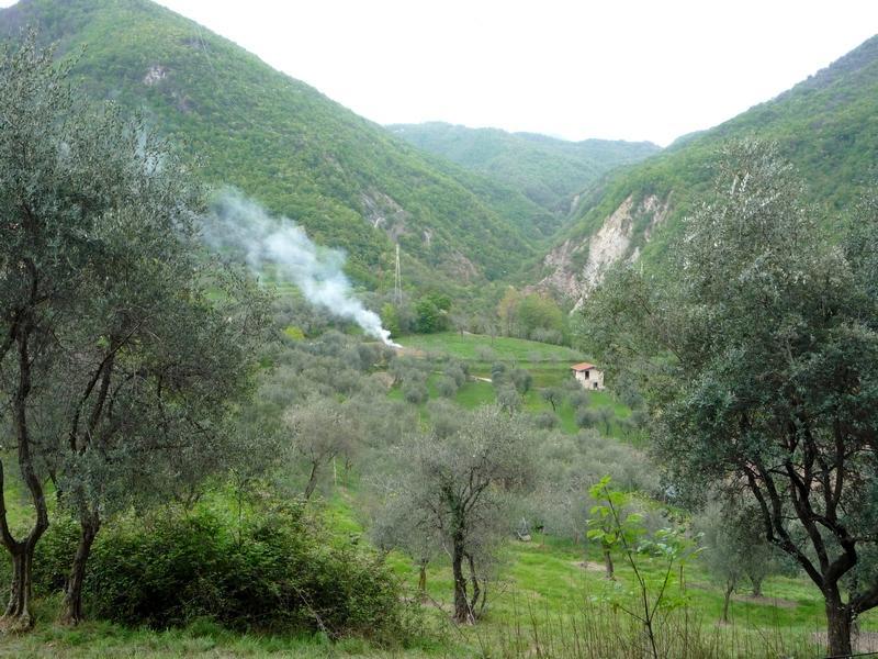 Дым в горах