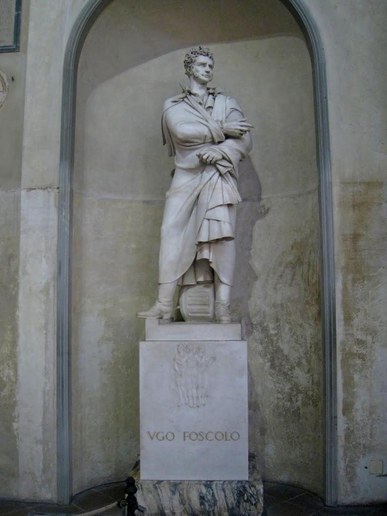 Скульптура Уго Фосколо в Санта Кроче