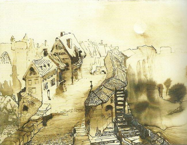 """Рисунок В.Гюго """"Vianden"""""""