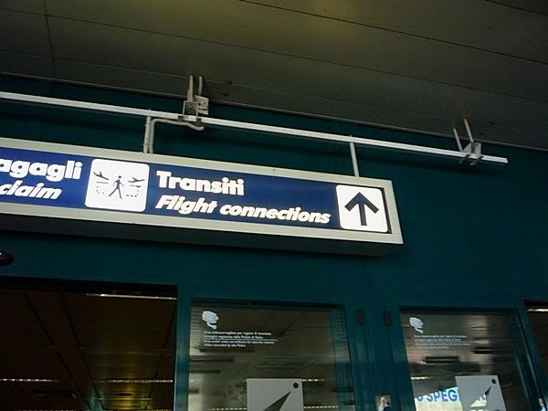 Указатель в аэропорту