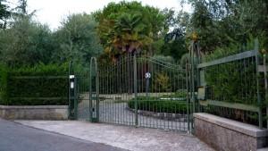 Кованые ворота в сад