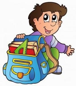 рисунок мальчик с портфелем