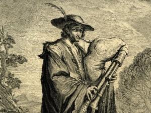волынщик с гравюры
