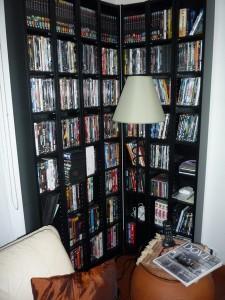 шкаф для дисков и торшер