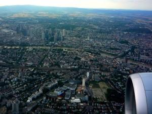 в небе над Франкфуртом