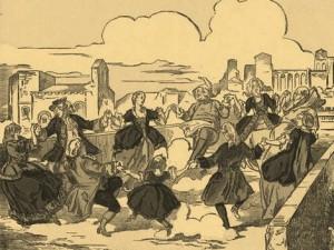 горожане, танцующие на Авиньонском мосту