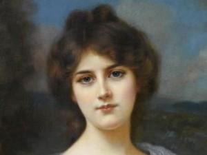 Красивое женское лицо