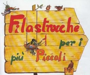 Табличка-указатель со словом Filastrocche