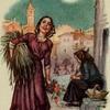 Девушка с охапкой трав и старушка