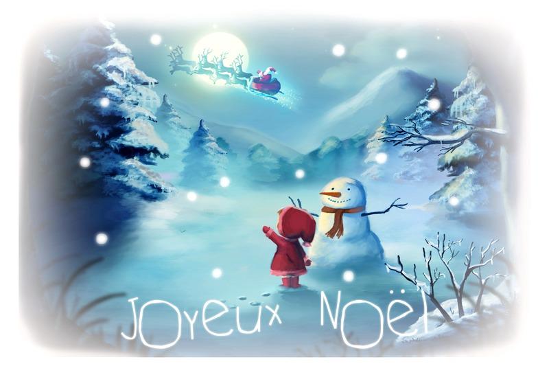 Николай царь, открытка к рождеству на французском