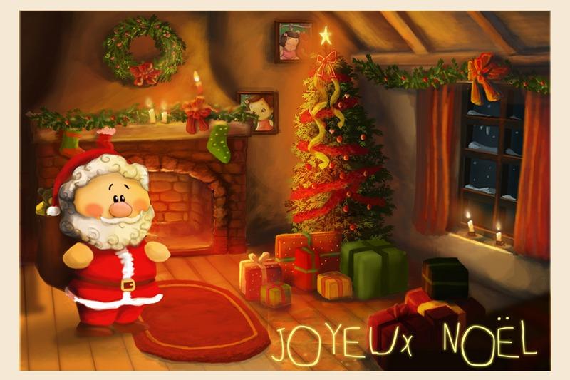 Днем, с новым годом на французском открытки