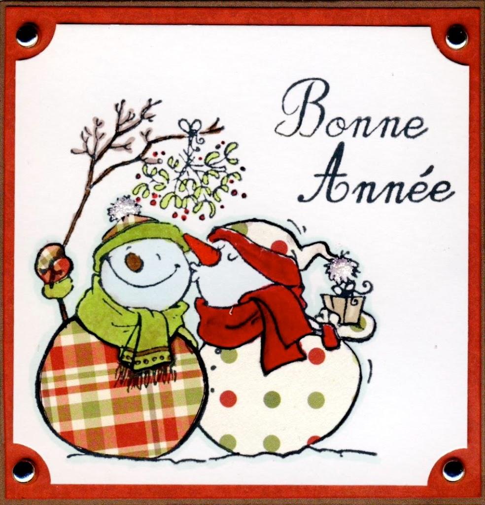 Открытка к рождеству на французском
