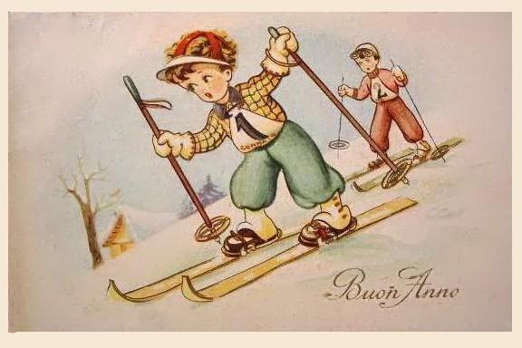 Днем, дети в италии открытка
