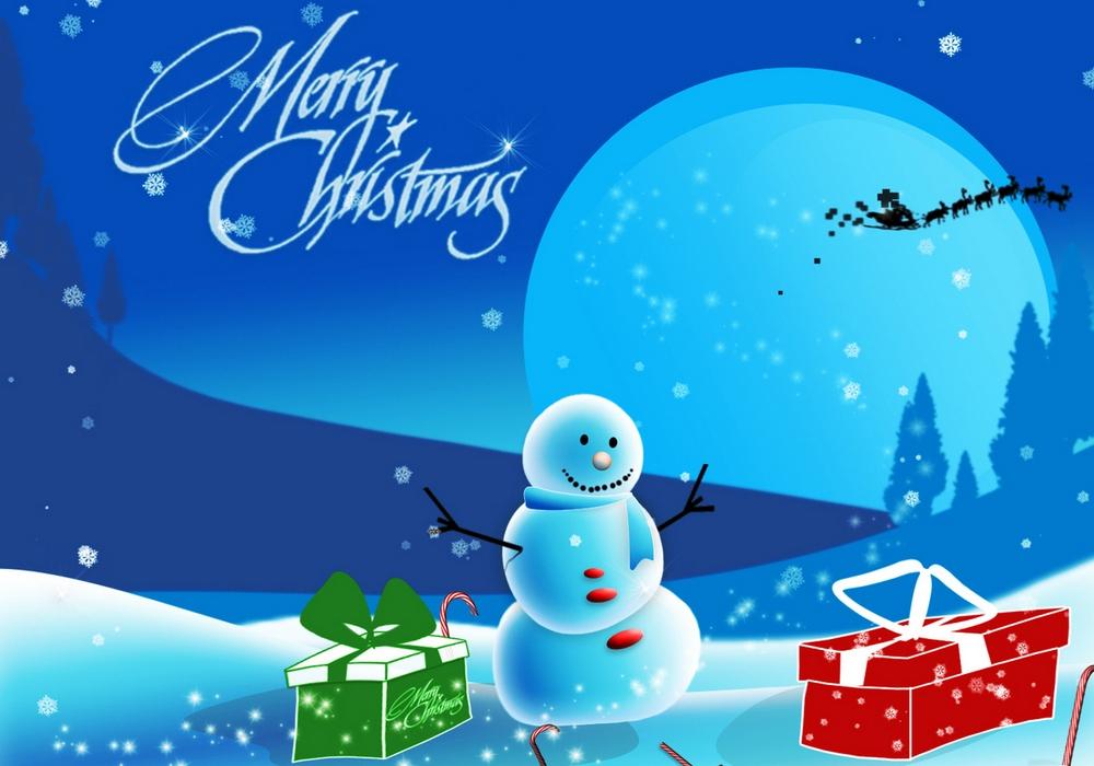 Рисование поздравительной открытки с новым годом