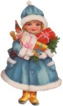 девочка с подарками